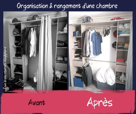 Rangement d'une chambre fait par BE'GILY'HOME votre Home Organiser à Compiègne